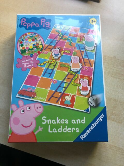 Kids Peppa Pig Snakes And Ladders Board Game 3 New