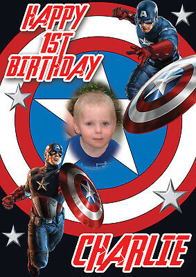 LARGE NOAHS ARK BIRTHDAY POSTER BANNER PERSONALISED PRINT ANY NAME TEXT AGE