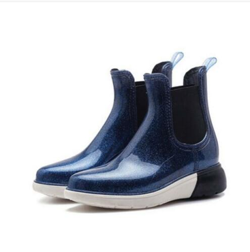 Women/'s Rubber Rain Ankle Boots Anti-Skid Waterproof Outdoor Shoes Casual Ths01