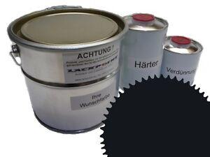 3 Liter Set 2K Floor Color Floor Ral 9017 Vinyl-Epoxid-Lack Lackpoint Shine