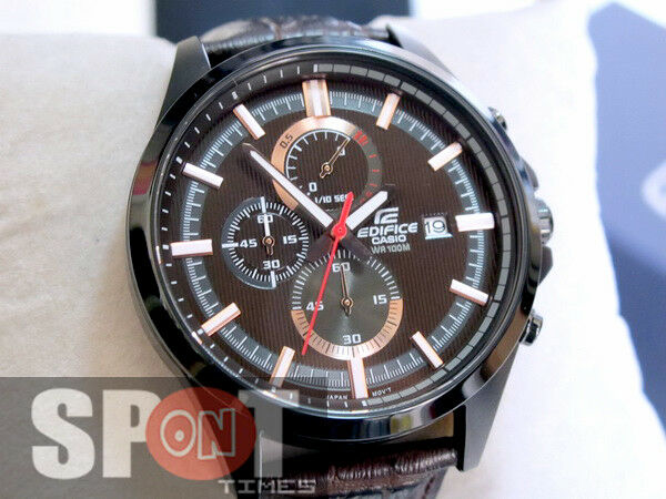Casio Analog Casual Watch Edifice Chronograph Brown Mens Efv 520bl