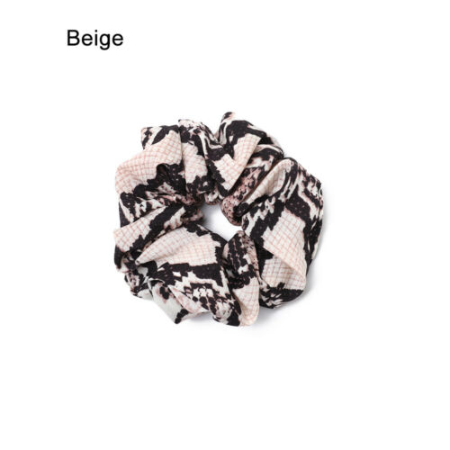 Snake Skin Scrunchies  Ponytail Holder Elastic Hair Bands Hair Accessories