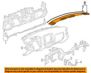 GM OEM Instrument Panel Dash-Trim Panel 84040713
