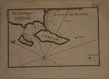 CARTE MARINE XVIII° SIECLE JOSEPH ROUX 1764  SARDAIGNE SANT ANTIOCO SAN PIETRO