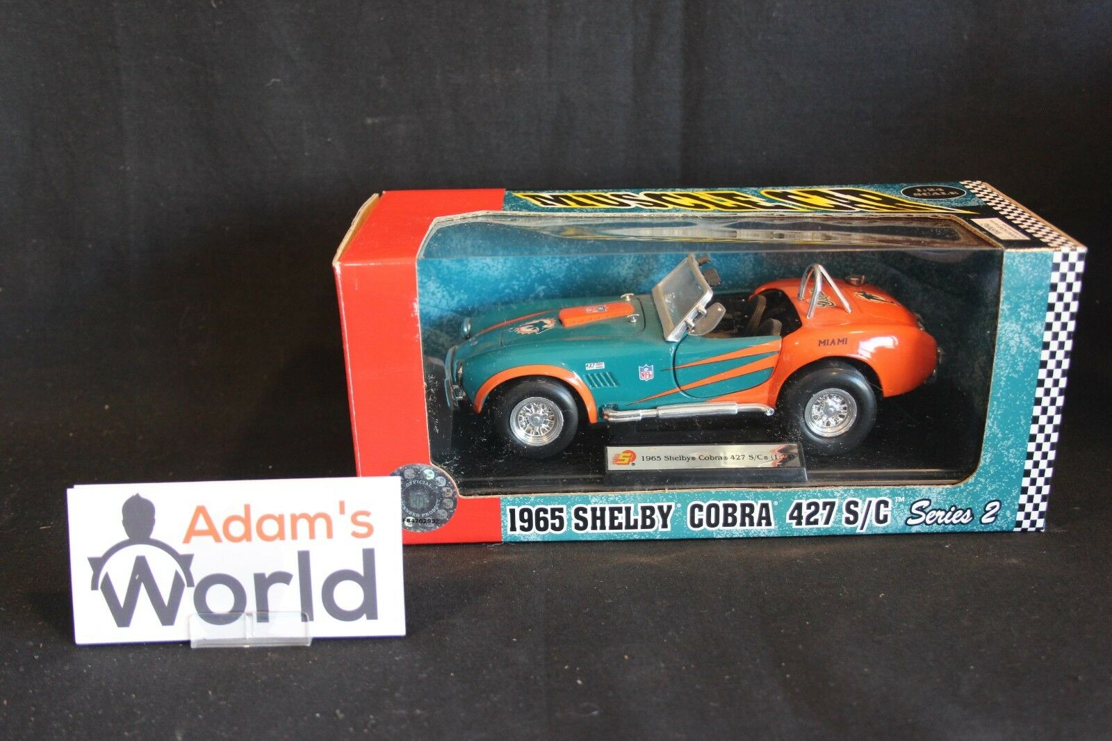 Fleer Collectibles 1965 Shelby Cobra Cobra Cobra 427 1 24 Miami Dolphins (NFL) (MG1) 738e4d