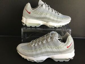 Details about NIKE AIR MAX 95 ULTRA WOLF GREYRED CRUSH MNS.SZ.8=WMNS.9.5 (AR4236 001)