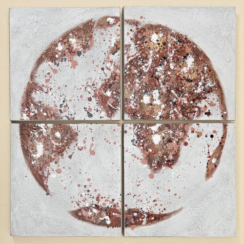 Set Globus Weltkarte 4 tlg Wandbilder 70cm