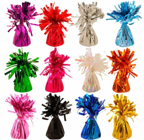 12 TASSEL Foil Helium BALLOON WEIGHTS Birthday Wedding Christening Party Cluster
