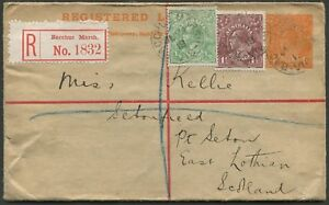 KGV-1914-24-Single-Wmk-July-1919-use-d-1-d-uprating-a-4d-KGV-registered-en