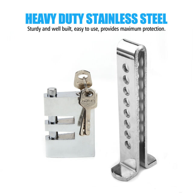 8 Hole Auto Car Security Lock Brake Pedal Anti-theft Stainless Steel Clutch Lock