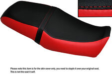 BRIGHT RED & BLACK CUSTOM FITS YAMAHA SRV 250 DUAL LEATHER SEAT COVER