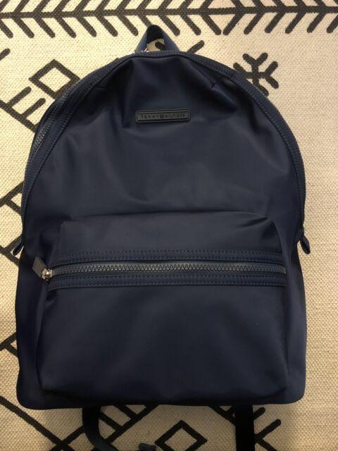 c38f39a5973c TOMMY Hilfiger Nylon Backpack School Travel Bag Laptop Sleeve Blue NWT  UNISEX