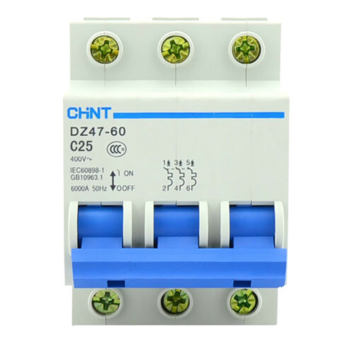 AC 400 V 25 A 3 Polos Interruptor de circuito de protección de la sobrecarga Reja de desminado en miniatura