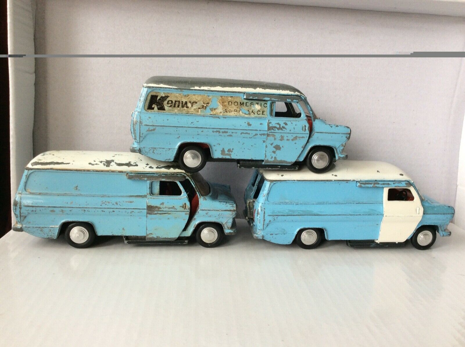 Dinky Ford Transit Van X3  KENWOOD  appareils domestiques, 407, 1970-73