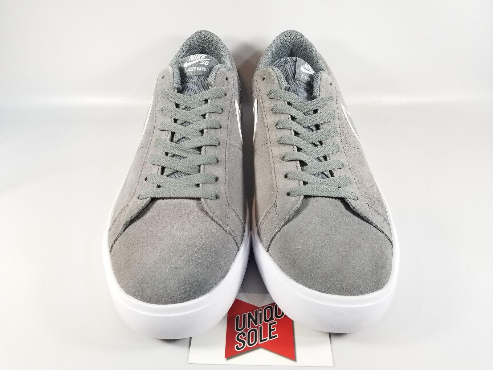 Nike sb blazer vapor cool ist aus grauem wildleder weiße 878365-001 sz 11 skate schuhe