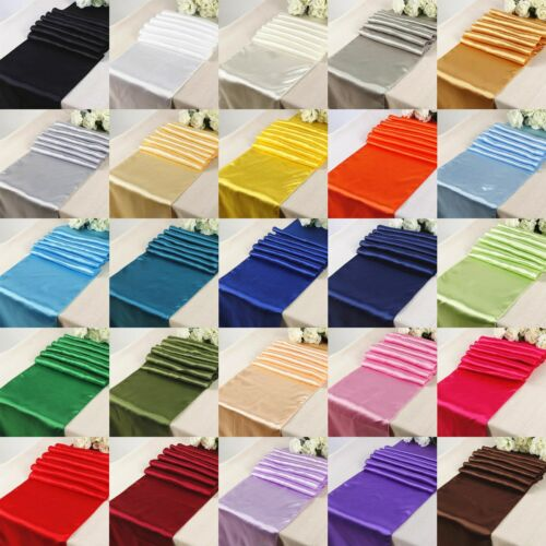 """Satin Aisle Runner 100 ft Long 60/"""" wide 100/% Seamless Fabric Made in USA Wedding"""