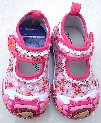 Nuevo Bebé Niñas Plantillas De Cuero Blanco Lona Vivero Zapatillas Zapatos Bailarinas UK
