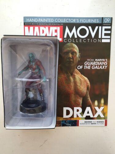 Problema de colección de películas de Marvel 9 Estatuilla Figura /& revista Drax EAGLEMOSS