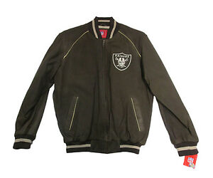 Oakland-Raiders-NFL-G-III-Men-039-s-Genuine-Soft-Leather-Jacket