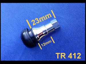 (TR412C) SATZ Gummiventile mit Chrommantel Reifen Ventile für Felgen, Alufelgen