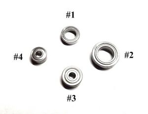 KUPA-UPOWER-UP200-amp-Mio-Drills-Complete-Set-of-4-Replacement-Bearings-4-Pcs