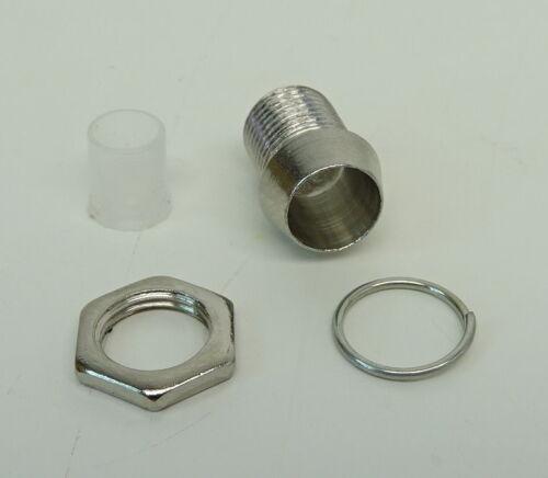 LED Blau 5mm Schraube Chrom Fassung Halter Reflektor Modellbau Tuning C2662