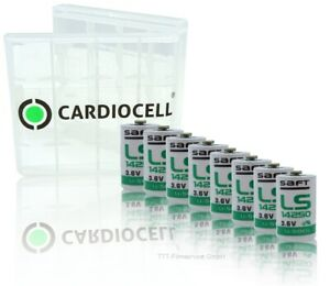 8-x-Saft-Lithium-Batterie-1-2-AA-Mignon-LS-14250-3-6V-1200mAh-mit-CardioCell-Box