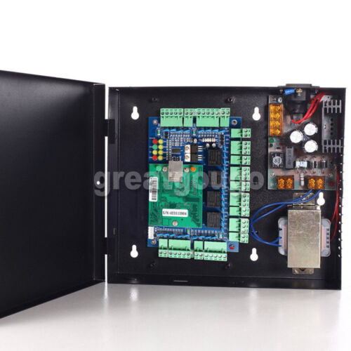4 Door 4 Readers TCP/IP Access Control System 220V Power Supply Box Software T&