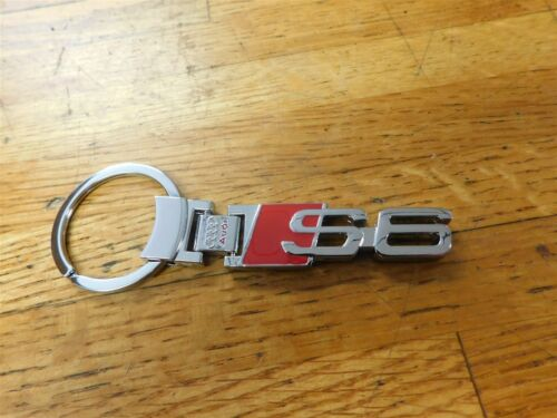 1994-2019 AUDI S6 S-6 CHROME METAL FACTORY ISSUED KEYCHAIN KEYRING NEW RARE