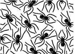Halloween-Party-Favour-Supplies-Decoration-Clip-on-Black-Plastic-Spiders-24-Pack