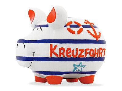 Glücksschwein Sparschwein Spardose 17 cm Motiv Money Mittelschwein Keramik