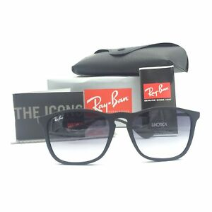 b99d16cdfec New Ray-Ban RB4187 622 8G Chris Black Squared Sunglasses Gradient ...