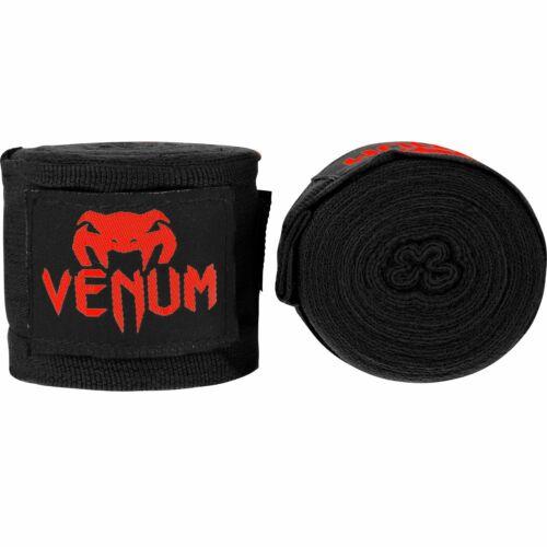 Venum Kontact Hand Wraps Black Red 2.5M Boxing Muay Thai Kickboxing Striking MMA