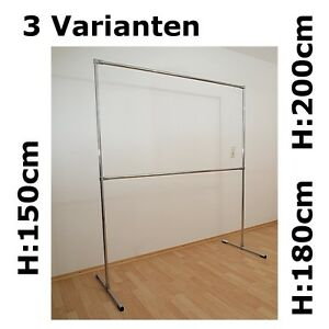 3 varianten 2 etagen profi kleiderst nder kleiderstange garderobe freistehend ebay. Black Bedroom Furniture Sets. Home Design Ideas