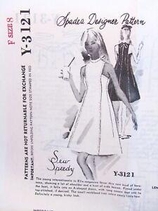1960s-Spadea-Y-3121-Vintage-Dress-Sewing-Pattern-Sew-Speedy-Size-8-B33-Uncut