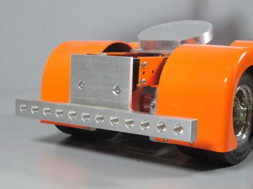 Aluminum Rear T-Bar Bumper Bar with LED holes Tamiya RC 1//14 King Hauler Semi