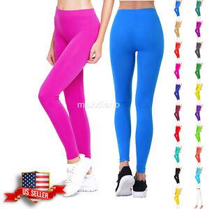9b6c498a07371 Image is loading Womens-Leggings-Footless-Pants-Yoga-Skinny-Fitness-Solid-