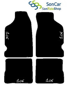 PEUGEOT-106-A-MEDIDA-ALFOMBRAS-DE-COCHE-alfombrillas-4-bloques-4decori