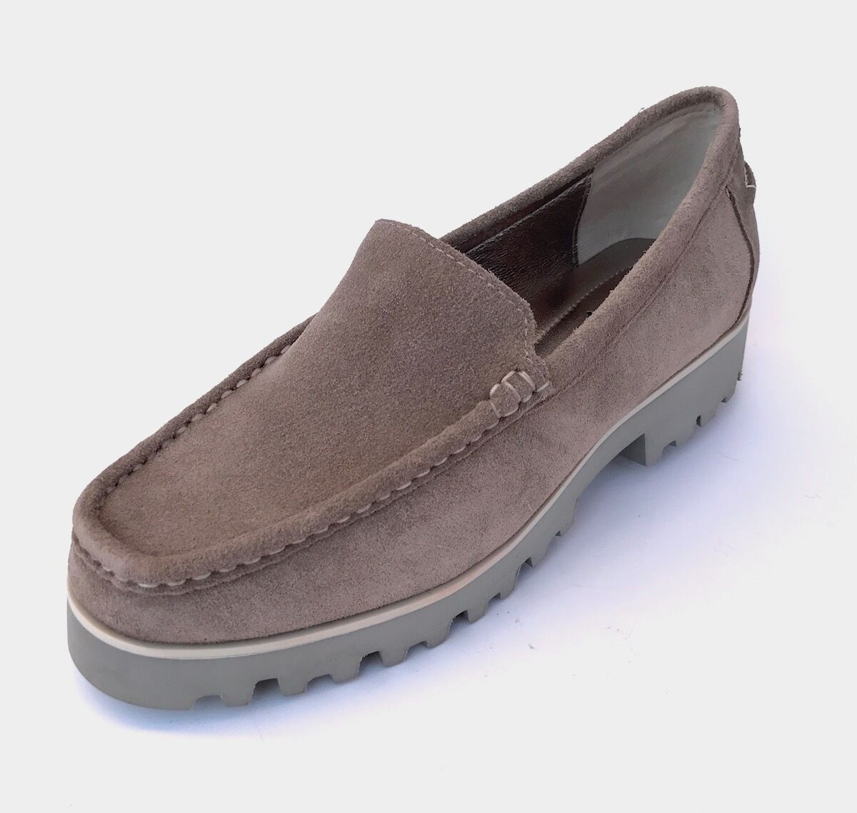 Donald J Pliner Rio Taupe Oily Suede US 7 (N) loafers shoes Retail  NEW