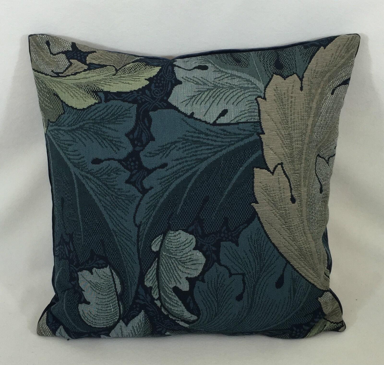 William Morris Indigo d'acanthe tapisserie Indigo Morris / minérale coussin couverture 18