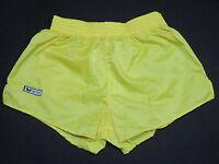 Erima Shorts Short kurze Hose Pant Vintage Sport Gelb Nylon Glanz Shiny 5 ca S-M