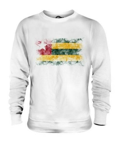 TOGO DISTRESSED FLAG UNISEX SWEATER TOP TOGOLESE SHIRT FOOTBALL JERSEY GIFT