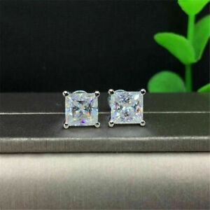 14k-White-Gold-over-1-00-Ct-Princess-Cut-VVS1-Diamond-Solid-Stud-Earrings