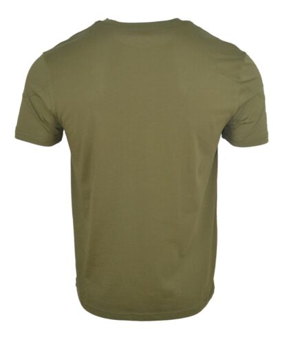 BELSTAFF /'THROWLEY/' CHEST PATCH CLASSIC T-SHIRT ARMY GREEN CREW NECK