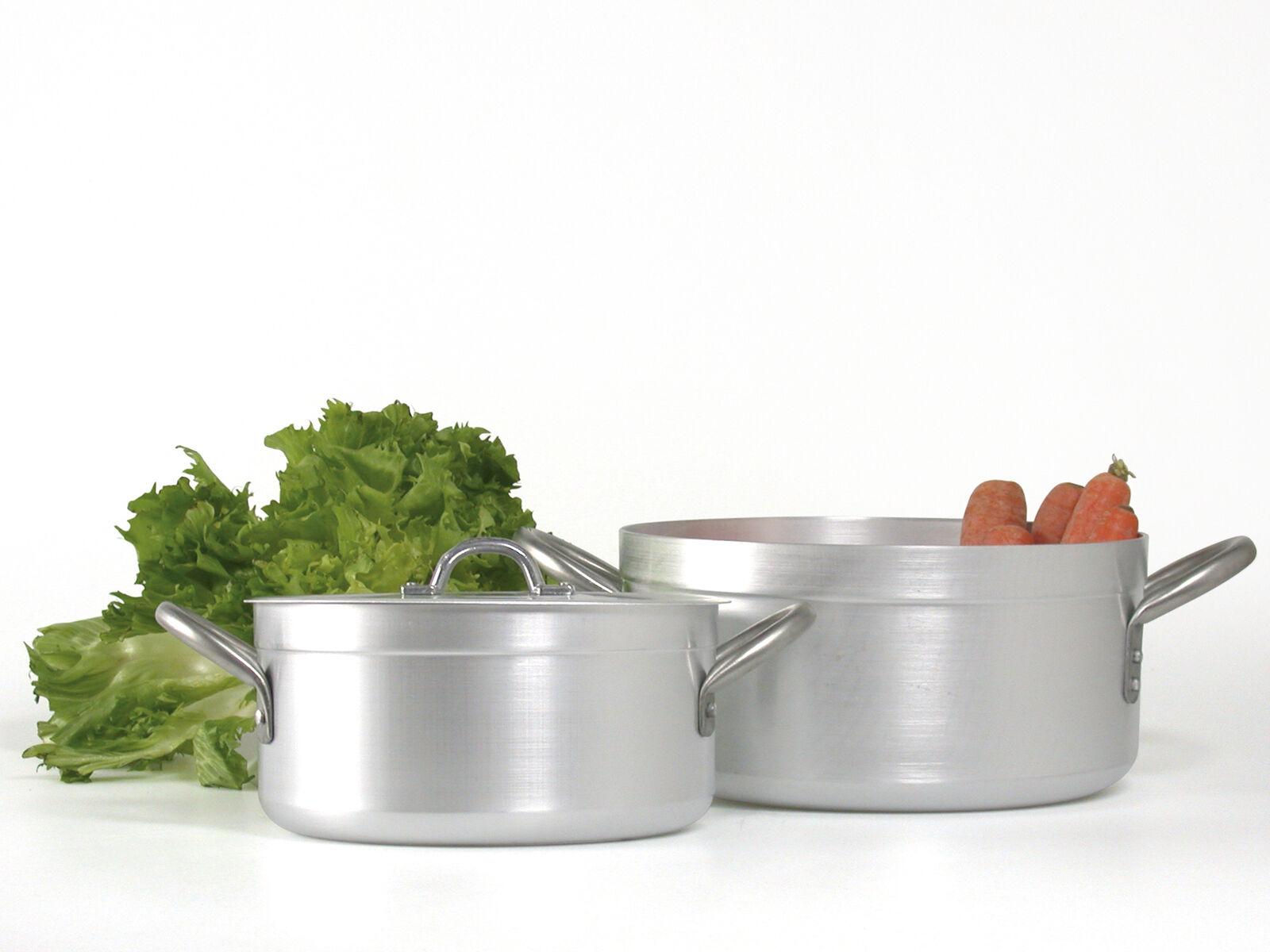 PARDINI Casseruola alluminio albergo media 2 manici 14 pentola da cucina