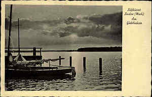 Lindow-Mark-Brandenburg-AK-1942-Partie-Am-Gudelacksee-See-Gewaesser-Boot-Schiff