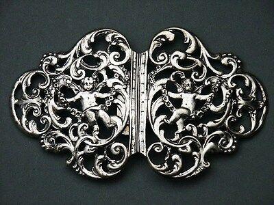 Accessoires Antiquitäten & Kunst GüNstiger Verkauf Antike Große Gürtelschnalle Putten 835er Silber Engel Jugendstil Ideales Geschenk FüR Alle Gelegenheiten