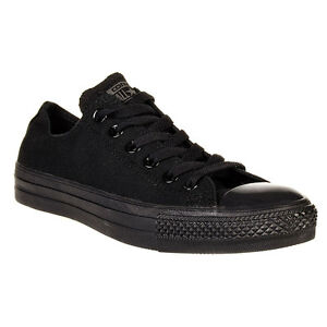 Details about Converse Chuck Taylor Star Black Mono Ox Top Mens Womens Skate Shoes Sizes