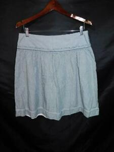 American-Eagle-12-Blue-Green-Plaid-Skirt-A-Line-Above-Knee-Cotton-Unlined-md