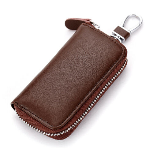 Genuine Leather Key Holder Case Keychain Pouch Bag Car Wallet Key Ring